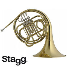 NEW Stagg WS-HR245 Brass French Horn with 3 Rotary Valves and Form Case