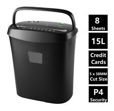 More details for econo cross cut paper shredder for home office electric 8 a4 sheets 15l litre
