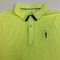 Sligo Wear Golf Polo Shirt Men's 2XL XXL Short Sleeve Green Navy Polyester Blend
