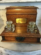 Antique Double Inkwell Stand & Writing Box