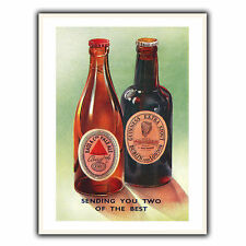 BASS PALE ALE GUINNESS Vintage Advert METAL WALL SIGN PLAQUE Kitchen Cafe Bar