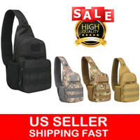 Tactical Sling Bag Military Backpack Pack Small Shoulder Sling Molle Bag for Men
