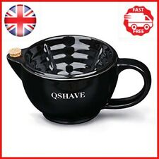 QSHAVE Shaving Scuttle Mug - Keep Lather Always Warm - Large Deep Size Bowl Cup