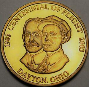Wright-Patterson Air Force Base Centennial Of Flight Bronze Proof Medallion~Fr/S