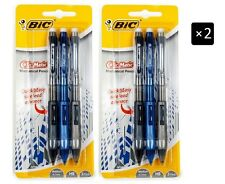 2 x BiC Clic-Matic Mechanical Pencil 3-Pack Multi/Check Stationary school office