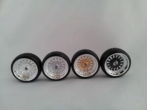 1:18 Scale BBS RS 15 INCH TUNING WHEELS WITH wheellogos now included, UNIQUE!