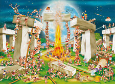 Jigsaw Puzzle International Building Stonehenge Caricature 1000 piece NEW USA