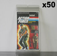 50 x Protective Cases For MOC Vintage Action Force Taller Carded Figures