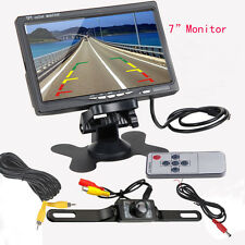 "7"" TFT LCD Digital Color Screen Car DVD GPS TV Monitor + Backup Rear View Camera"