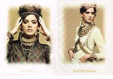 PUBLICITE ADVERTISING 035  2011  CHANEL   boutique haute couture ( 2p)