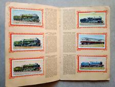 Livre album 50 vignettes locomotives anglaises, complet, 1936, chemin fer trains
