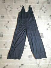 Lou & Grey Womens Black Sleeveless Wide Leg Jumpsuit Size XS Pockets