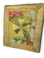 Bourse de Corporale Religieux Fil d'Or Broderie linge Sacred Art