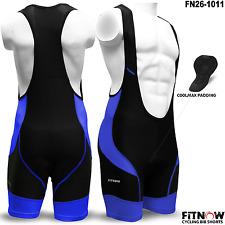 Mens Pro Cycling Bib Shorts Coolmax Anti-Bac Padding Cycle Tight Bicycle Shorts