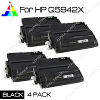 4 PK Q5942X 42X Toner Cartridge For HP LaserJet 4250dtn 4250dtnsl 4250n 4250tn