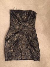 Karen Millen Dress Metallic Jacquard New Tags size 8 Party Gift RRP£150
