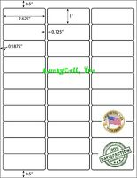 15000 Address Labels Amazon FBA Labels 30 Per Sheet 30UP 2.625''x1'' 500 Sheets