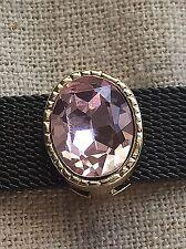 Large Pink Gem Slide charm (Gold)  for 10mm Slide Keep Bracelet