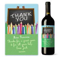 Personalised Teacher Wine Label Gift - School Thank You Helper Gift