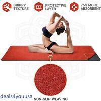 Premium Quality Yoga Pilates Mat Quick Drying Sweat Absorbing Non Slip Weaving