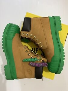 Timberland x Bee Line x BBC Icecream wheat green rubber boots 11