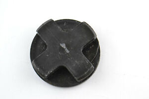 End Cap Pipe Conduit Plug Tube Furniture Foot Leg Black 48mm Wide ID 50mm OD