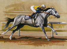 Lady's Secret photo from oil painting  Horse Racing Secretariat