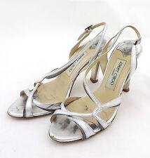Jimmy Choo Sandale 36,5 silber high heels Leder pumps
