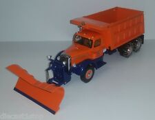 1:34th First Gear Tollway & Tunnel R Model Mack Dump Truck with Plow - 19-3201