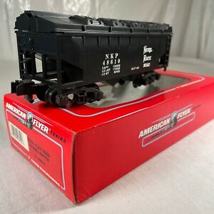 AMERICAN FLYER S SCALE MINT 6-48610 NICKLE PLATE ROAD COVERED TWIN BAY HOPPER