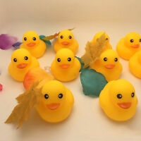 20 Mini Yellow Bathing Rubber Duck Bath Toy Squeaky Water Play Fun for Baby Kids