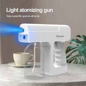Multicolor Wireless Electric Sanitizer Sprayer Disinfects Blue Light Nano Steam