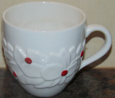 Starbucks Christmas Mug White Red Berries Holly Poinsettia 16 Oz Coffee Cup 2004