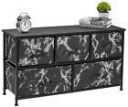Sorbus Dresser w/ 5 Drawers - Marble Design Bedroom Storage Chest Organizer Unit
