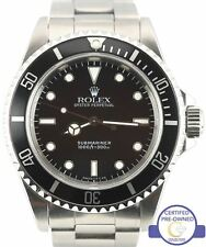 Men's Rolex Submariner No-Date 14060 Stainless Steel Black Dive 40mm Swiss Watch