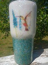 Glitter Tumbler Hummingbirds 30oz Custom