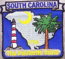 Embroidered USA State Patch South Carolina NEW montage