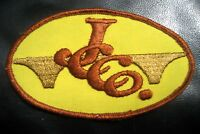 """JCCO EMBROIDERED SEW ON PATCH LOGO ADVERTISING UNIFORM BADGE  4 7/8"""" x 2 7/8"""""""