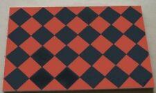 Black & Dark Red Square Quarry Tiles - Dolls House
