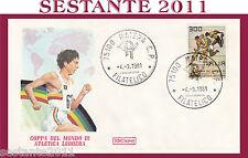 ITALIA FDC ROMA  COPPA DEL MONDO ATLETICA LEGGERA ANNULLO MATERA 1981 H305