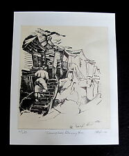"Giclee Print  Original ""Drawing Lady Returning Home"" Ethnic Patricia Bradshaw"