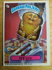 Rare Series 4 Blank Back Garbage Pail Kids Sticker #143b Hy Rye