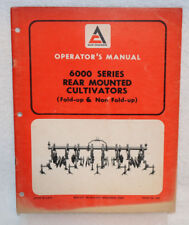 Allis-Chalmers 6000 Series Rear-Mounted Cultivators Operator's Manual