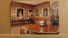 Postcard unposted Montgomeryshire, Welshpool, Powis castle, Dining room