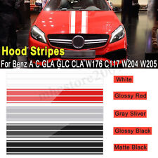 Stripes Graphics Hood Decals Auto Vinyl Bonnet Stickers For Mercedes Benz A C