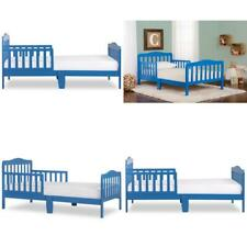 Toddler Bed With Mattress Wood Girl Boy Furniture Bedroom Child Kids Safety Rail