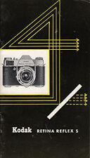 Kodak retina reflex s Original werbeheftchen Nº 352