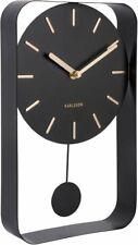 Karlsson BLACK PENDULUM Charm WALL CLOCK Table Clock Steel