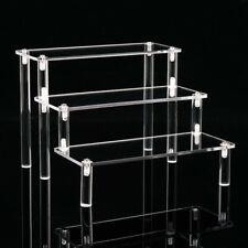 Acrylic Riser Display Shelf 3-Tier Display Stand Removable Rack for Figures Toys