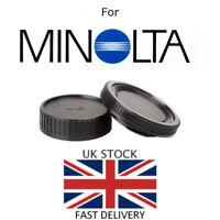 NEW Body & Rear Lens Cap For Minolta MD Mount *UK Seller* SLR Film Camera / Lens